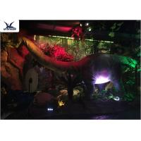 China Full Size Garden Statues Moving Dinosaur Models With Light , Realistic Raptor Dinosaur wholesale