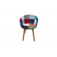 China Wrinkle Resistance Patchwork Dining Chair , Beech Contemporary Dining Chairs Upholstered wholesale