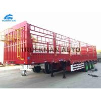China 12.5m 3 Axles Fence Semi Trailer Suitable Height  Easy Maintenance / Repair on sale