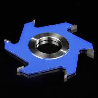 China Welded Grooving Profile Milling Cutter Custom Made Blue Colour Six Tooth wholesale