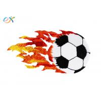 China Polyester Material Embroidered Soccer Patches Customized Size For Clothing wholesale