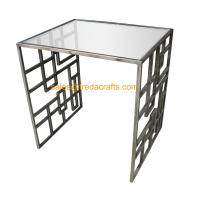 China High Standard Metal Frame Gold Finish Tempered Glass Top Coffee Table wholesale