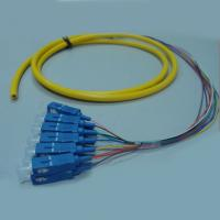 Buy cheap SC / UPC Fiber Optic Pigtail 12 Fibers / Colors Bundle Pigtail Without Kevlar from wholesalers