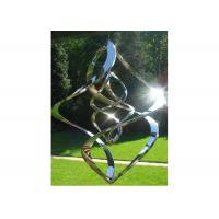 China Contemporary High Glossing Mirror Stainless Steel Sculpture Kenitic Wind Sculpture wholesale