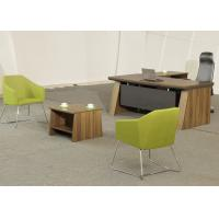 China Medium Size Office Manager Desk Waterproof High Durability With Coffee Table wholesale