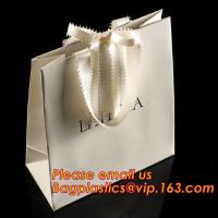 China luxury paper shopping bag for jewellry, twist handle luxury print fancy brown kraft art paper carrier bag wholesale wholesale
