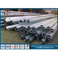 China 13.8 KV 69 KV Galvanized Steel Poles for Philippine Transmission wholesale