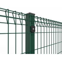 Quality Roll Top and Bottom Fence , PVC / Powder Coated Roll Top Welded Wire Fence wholesale
