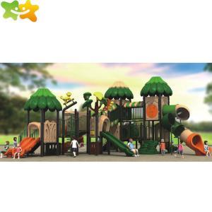 China Residential Preschool Kids Play Park Plastic Playground Slide wholesale