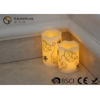 China Luxury Carved Craft real Wax led Candles with flower pattern , painting candle wholesale
