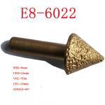 China End Milling CNC Engraving Tool Bits , Vacuum Brazed Diamond Tools 3D 120 Degree wholesale