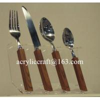 China Kitchen acrylic knife display holder stand cheap PMMA forks & knifes rack wholesale