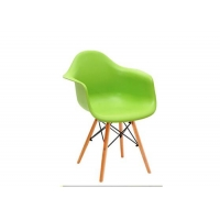 China Colorful Wooden Leg Dining Chair Slip Resistant With Waterfall Seat Design wholesale