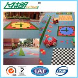 China Sports Recycled Rubberized Floor Tiles Polypropylene Interlock Flooring wholesale