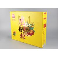 China PP Handles Paper Shopping Bags Hard Corrugated With Gold Foil Stamp And Spot UV wholesale