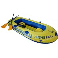 China Three Person PVC Inflatable Boat With Oars For Beach CE ISO wholesale