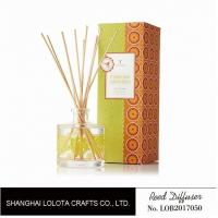 China Clear Round Bottle Long Lasting Reed Diffuser , Room Scents Reed Diffuser wholesale