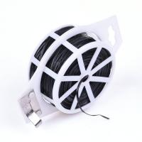 Quality PVC Coated Wire Twist Tie with Cutter Flat Wire wholesale