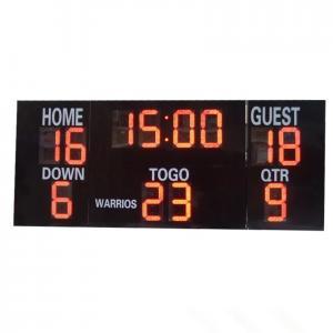 China LED Electronic Sports Scoreboard , Multi Sport Scoreboard Front Face UV Protection wholesale