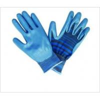 Quality OEM 13G Smooth Finish Nitrile Work Gloves with Knitted Seamless Nylon Liner for sale