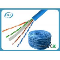 China Solid UTP Cable Ethernet Cat 6 Network Internet Cord 4 Pair Pure Bare Copper Wire 23AWG wholesale