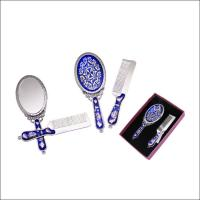China Eco Friendly Travel Hand Mirror / Antique Hand Held Vanity Mirror wholesale