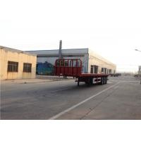China 3 Axles Steel Flatbed Semi Trailer Mechanical Suspension Leaf Spring 13mmx90mm wholesale
