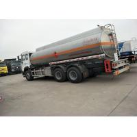 China 10 Wheels 336HP 18M3 Oil Tanker Truck For Oil Transportation , White Color wholesale
