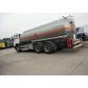 China 10 Wheels 336HP 18M3 Oil Tanker Truck For Oil Transportation , White Color wholesale