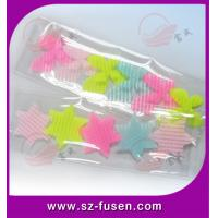 Quality Fashion Nylon Decorative Velcro Hair Clips Accessories With Star , Colored for sale