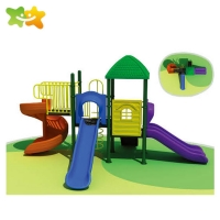China Residential Park Toddler Outdoor Playground Equipment Plastic Slide wholesale