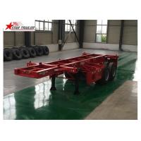 China 2 Axles Tipper Hydraulic Flatbed Trailer , 50T Flatbed Truck Trailer wholesale