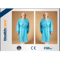 China Safety Disposable Surgical Gowns / Medical Isolation Gowns Free Sample 35/40/45Gsm wholesale