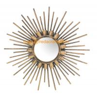 China China Factory Good Price Gold Finish Sunburst Decorative Wall Mirror For Home Decor wholesale