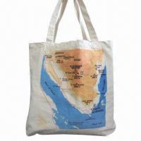 China Cotton shopping bag with two strips wholesale