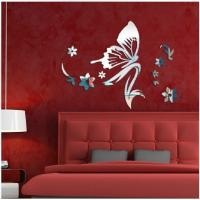 China Mirror wall stickers beauty salon bedroom kindergarten shop decoration mirror stickers wholesale