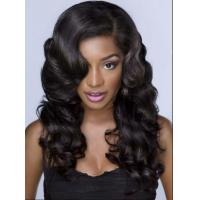 China Elegant 25 Inch / 26 Inch Brazilian Curly Human Hair Wigs For Laides wholesale