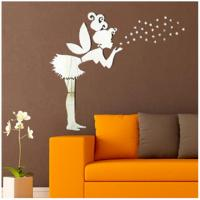 China Angel Magic Fairy & Stars 3D Mirror Wall Sticker Kids Bedroom Decoration Gift Creative wholesale