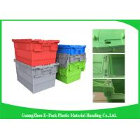 Quality Recyclable Logistic Plastic Attached Lid Containers For Transporting wholesale