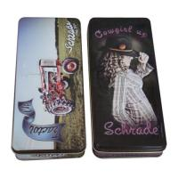 Quality Embossing Pencil Tin Box With Different Artwork ,Size :174x74x27mm ,Material :Tinplate for sale