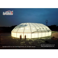 China Big large polygon aluminum frame pvc event tent for Tennis court basketball warehouse exhibition storage church tent wholesale