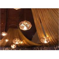 China Fireproof Hanging Diy Lamp Shade Metal Mesh Drapery With Anodized Treatment wholesale