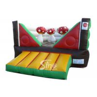 China Commercial Indoor Kids Mushroom Bouncy Castle Made With 0.55mm Pvc Tarpaulin wholesale