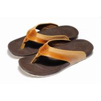 China New designer leather mens fashion slipper/flip-flops,Top personality beach t-imberlan shoe wholesale