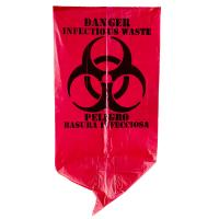 China Red Infectious Waste Recyclable Garbage Bags 7 Gallon Gravure Printing wholesale