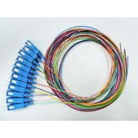Buy cheap 0.9mm Tight Buffer Fiber Optical Pigtail SC UPC Connector 12 Colors Single Model from wholesalers