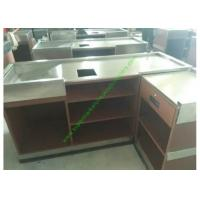 Buy cheap Store Coffee Cash Register Counter Stand / Metal Cash Wrap Counter from wholesalers