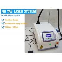 Buy cheap Professional 1064nm / 532nm Laser Tattoo Removal Equipment , ND Yag Q Switched Laser Machine from wholesalers