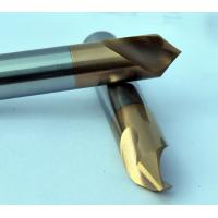 China Dia 3 mm 90 Degree Chamfer End Mill , 50 mm Length Milling Machine Cutters wholesale