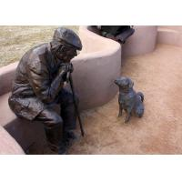 China Old Man And Dog Bronze Statue For Home Garden Public Decoration wholesale